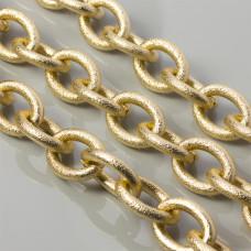 Łańcuch aluminiowy diamentowany owal złoty 27x20mm
