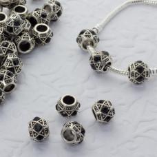 Koralik z kryształkami wzorki jet 5mm