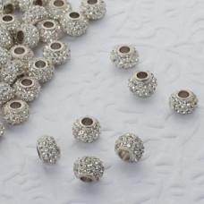 Koralik oponka z kryształkami multi crystal 4mm