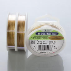 Beadalon linka powlekana 0.38mm gold color