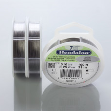 Beadalon linka powlekana 31m 0.25mm grey color