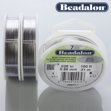 Beadalon linka powlekana 0.66mm grey color