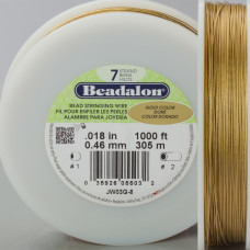 Beadalon linka powlekana 0.46mm gold color