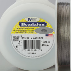 Beadalon linka powlekana 0.38mm grey color