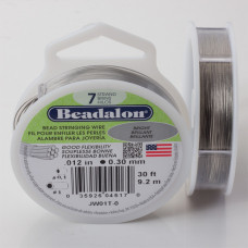Linka stalowa Beadalon siedmiostrunowa 9.2m 0.3mm szara