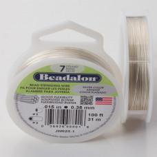 Linka stalowa Beadalon siedmiostrunowa 31m 0.38mm silver