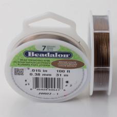 Linka stalowa Beadalon siedmiostrunowa 31m 0.38mm bronze