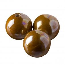 Kulka ceramiczna nakrapiana brązowa 32mm