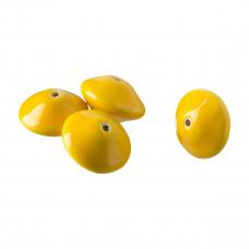 Porcelana dysk 22mm żółty