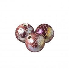 Kulka ceramiczna spękana brudny róż metalic 34mm