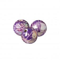 Kulka ceramiczna spękana fioletowa opalizująca 34mm