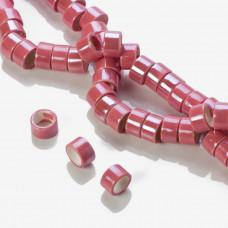 Ceramiczne walce różowe 13x8mm
