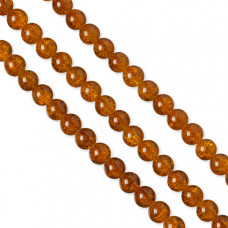 Kulki crackle pomarańczowe 12mm