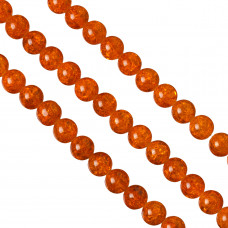 Kulki crackle pomarańczowe 14mm