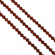 Bicone crackle czerwone 8mm