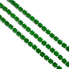 Kostki crackle zielone 8mm