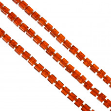 Kostki crackle czerwone 8mm