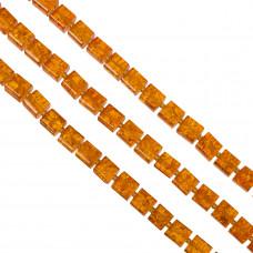 Kostki crackle jasno pomarańczowe 10mm