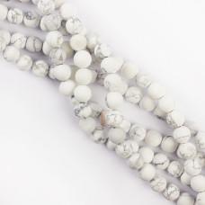 Howlit biały kulka gładka matowa 10mm