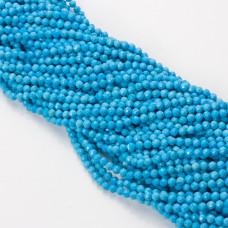Howlit niebieski kulka fasetowana 4mm