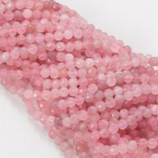 Kryształ górski różowy kulka fasetowana 5mm