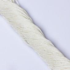 Opal biały kulka fasetowana 2.5mm