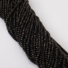 Obsydian czarny oponka fasetowana 5x3mm