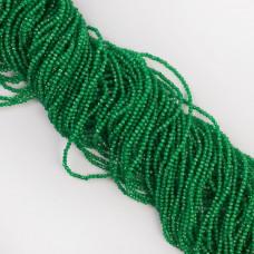 Kocie oko kulka fasetowana zielona 1,8-2mm