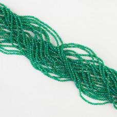 Agat zielony kulka fasetowana 2mm