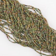 Agat zielony kulka gładka 2mm