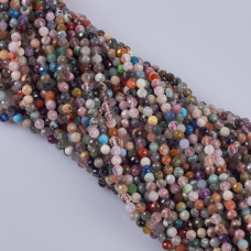 Mix kamieni kulki fasetowane 5mm