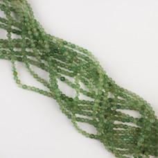 Kryształ górski zielony kulka fasetowana 3,5mm