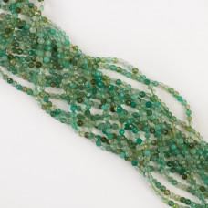 Agat zielony kulka fasetowana 3,5mm