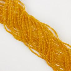 Agat żółty kulka fasetowana 3mm