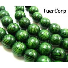 Drewniane kulki zielone 16mm