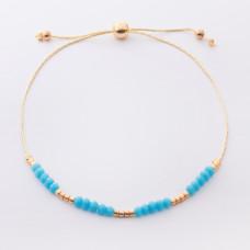 Bransoletka z niebieskimi kryształkami i koralikami Miyuki
