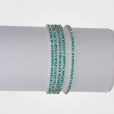 Bransoletka z kryształkami aquamarine 16-20cm