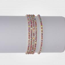 Bransoletka z kryształkami rose AB 16-20cm