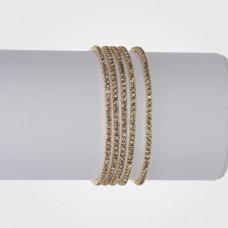 Bransoletka z kryształkami silver shadow 16-20cm