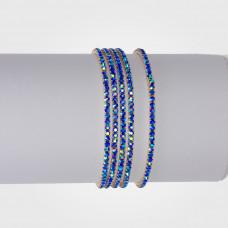 Bransoletka z kryształkami shapphire 16-20cm