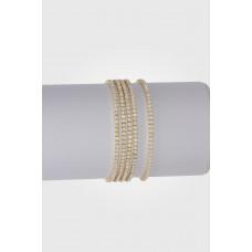 Bransoletka z kryształkami shinny opal 16-20cm