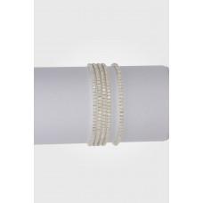 Bransoletka z kryształkami white opal 16-20cm