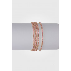 Bransoletka z kryształkami crystal rose 16-20cm