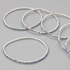 Bransoletka z kryształkami multicolor 18-21cm