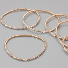 Bransoletka z kryształkami crystal 18-21cm