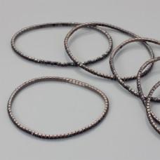 Bransoletka z kryształkami jet 18-21cm