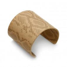 Beżowa bransoletka cuff ze skórki 72mm