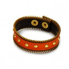 Pomarańczowa bransoletka z zamkami 18-21cm