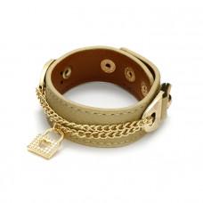 Khaki bransoletka kółdki na łańcuszku 18-21cm