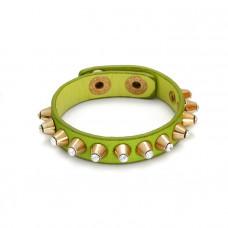 Zielona bransoletka kryształowe ćwieki 18-21cm